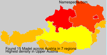 Surname Madel in Austria