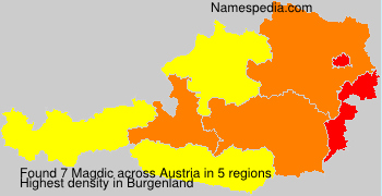 Surname Magdic in Austria