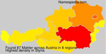 Surname Mahler in Austria