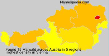 Familiennamen Maiwald - Austria