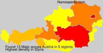 Surname Majic in Austria