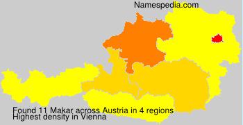 Surname Makar in Austria