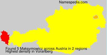 Familiennamen Maksymowicz - Austria