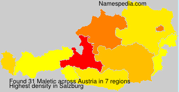 Surname Maletic in Austria