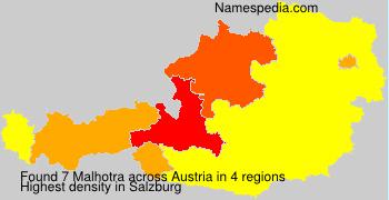 Familiennamen Malhotra - Austria