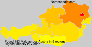 Surname Maly in Austria