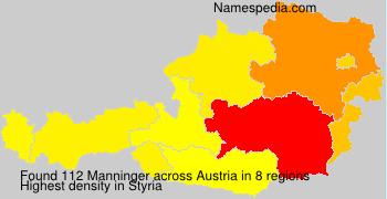 Familiennamen Manninger - Austria