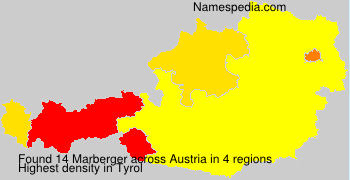 Familiennamen Marberger - Austria