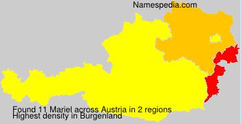 Surname Mariel in Austria