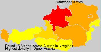 Surname Marina in Austria