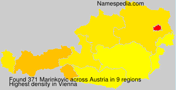 Surname Marinkovic in Austria