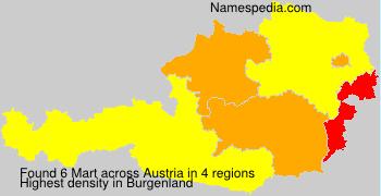 Surname Mart in Austria