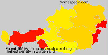Surname Marth in Austria