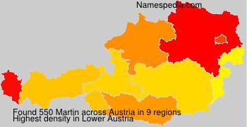 Surname Martin in Austria