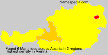 Surname Martinides in Austria