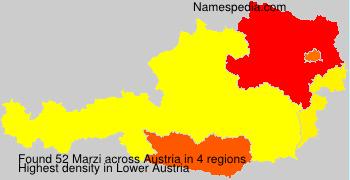 Surname Marzi in Austria