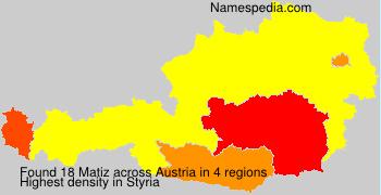 Surname Matiz in Austria