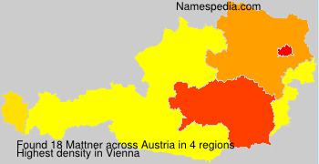 Surname Mattner in Austria