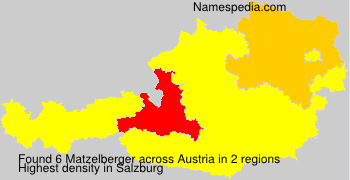 Surname Matzelberger in Austria