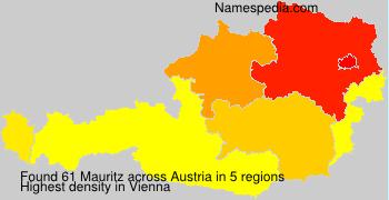 Surname Mauritz in Austria