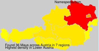 Surname Maus in Austria