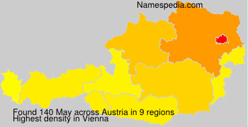 Surname May in Austria
