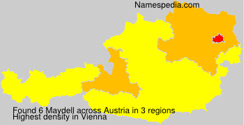 Surname Maydell in Austria