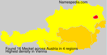 Surname Meckel in Austria