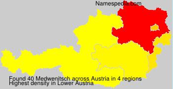Surname Medwenitsch in Austria