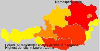 Familiennamen Meierhofer - Austria