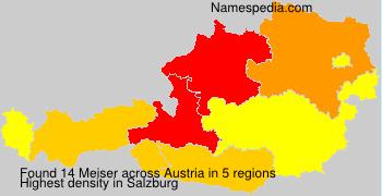Surname Meiser in Austria