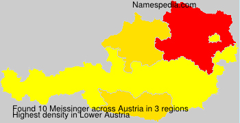 Surname Meissinger in Austria