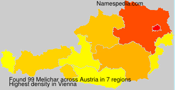 Surname Melichar in Austria