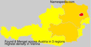 Surname Mengel in Austria
