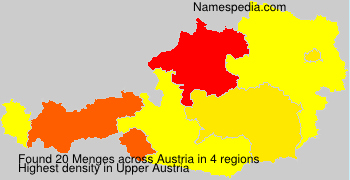 Familiennamen Menges - Austria