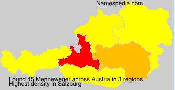 Familiennamen Menneweger - Austria
