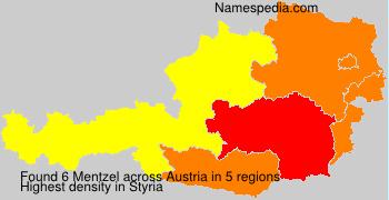 Familiennamen Mentzel - Austria
