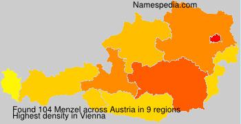 Surname Menzel in Austria