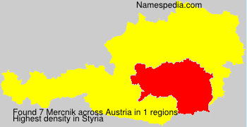 Surname Mercnik in Austria