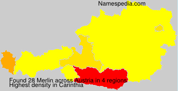 Surname Merlin in Austria