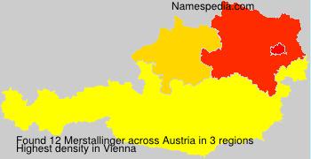 Surname Merstallinger in Austria
