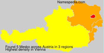 Surname Mesko in Austria