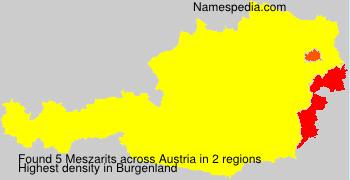 Familiennamen Meszarits - Austria