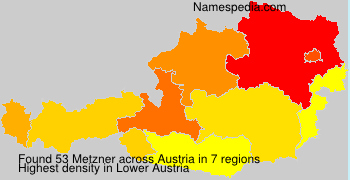 Surname Metzner in Austria