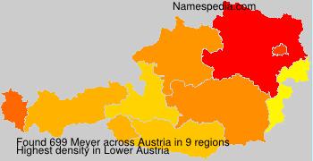 Surname Meyer in Austria
