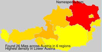 Surname Mies in Austria