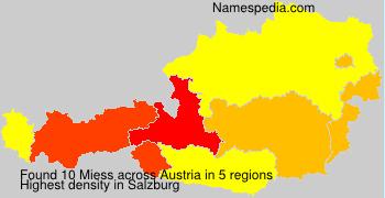Surname Miess in Austria