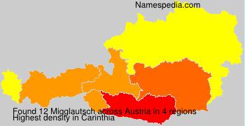Surname Migglautsch in Austria