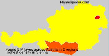 Surname Milavec in Austria