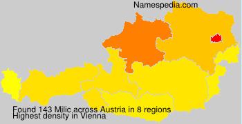 Surname Milic in Austria